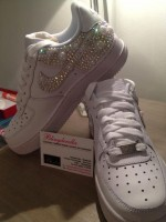 Customised Crystal Children's Nike Air Force 1's Low Tops