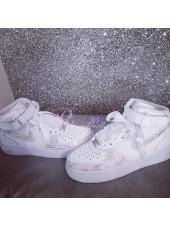 "Children's Crystal Nike Air Force ""Katie"""
