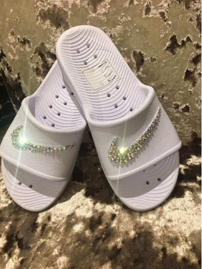 NEW Customised Crystal Adult's Nike Pool Sliders