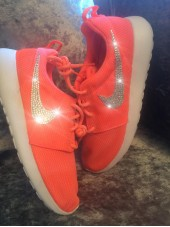 Customised Crystal Adult's Coral Nike Roshe