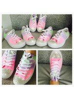"""Customised Crystal Children's Converse """"Opal Fruits"""""""