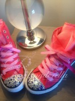 """Customised Crystal Children's Converse """"Party Converse"""""""
