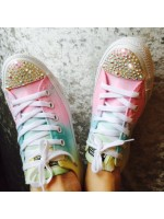 """Customised Crystal Children's Converse """"Pastel Part 2"""""""