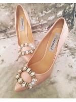 Customised Crystal Blingderella Peach Heels