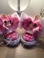 """Customised Crystal Children's Converse """"Pink Rose Minnie"""""""