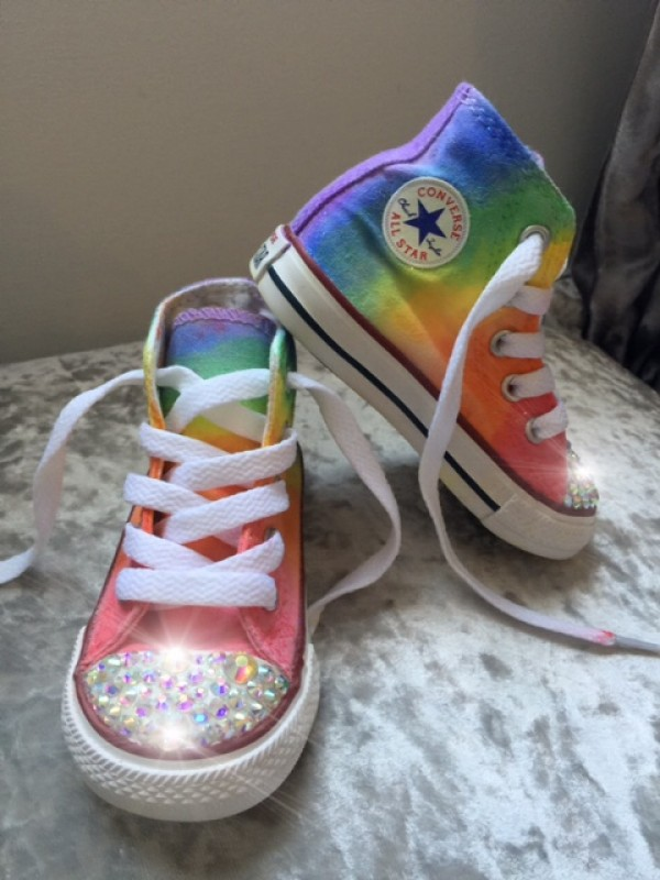 d7f3a0c1e133 Customised Crystal Children s Converse