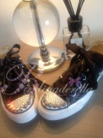 "Customised Adult's Converse Spikes ""Queen of the Night"""