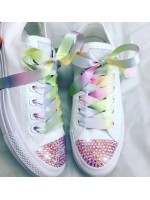 "Customised Children's Converse ""Rainbow Clouds"""