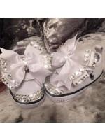 Customised Crystal Ralph Lauren Crib Shoe
