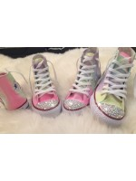 """Customised Crystal Children's Converse  """"Refreshers"""""""