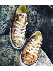 "Customised Children's Converse ""Rose Gold"""