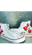 "Customised Adult's Converse ""Rose Initial"""