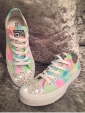 "Customised Crystal Adult Converse ""Sherbet Fizz"""