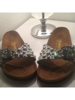 Customised Crystal Adult's Birkenstock in Silver