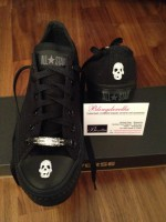 Customised Adult's Converse Skulls 3