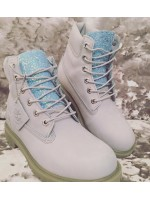Customised  Adult's Sky Blue Glitter Timberlands