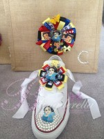"""Customised Crystal Kids Converse """"Snow White with Jute Bag"""""""