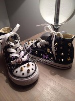 "Customised Adult's Converse ""Stud Forever"""