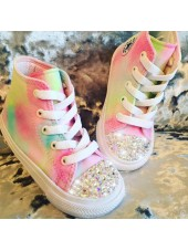 "Customised Adult's Converse ""Sweet Clouds"""