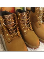 Customised  Adult's Tan Timberlands