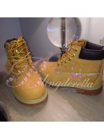 Customised Crystal Children's Timberlands