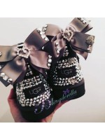 Customised Crystal Children's Ultra Short Bow Uggs