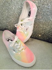 Customised Crystal Adult Tie Dye Vans