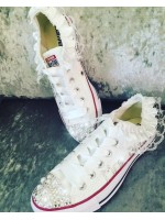 Customised Child's Crystal 2016 Wedding Converse