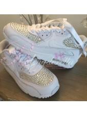Children's Crystal White Nike Air Max